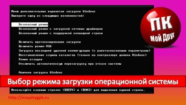 Выбор режима загрузки операционной системы Windows