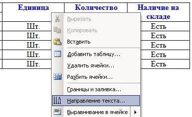 Щелкните правой кнопкой мыши по той ячейке, в которой необходимо изменить направление текста и в выпадающем меню выберите пункт – Направление текста…