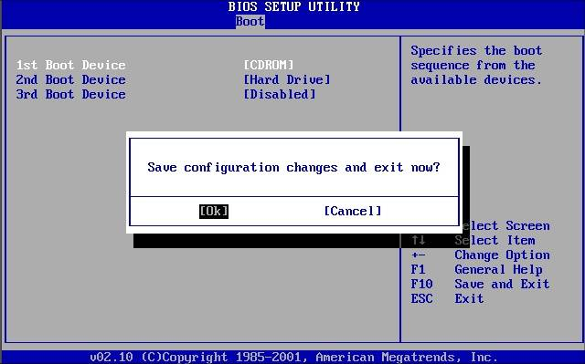BIOS настройка загрузки с CD-диска или флешки