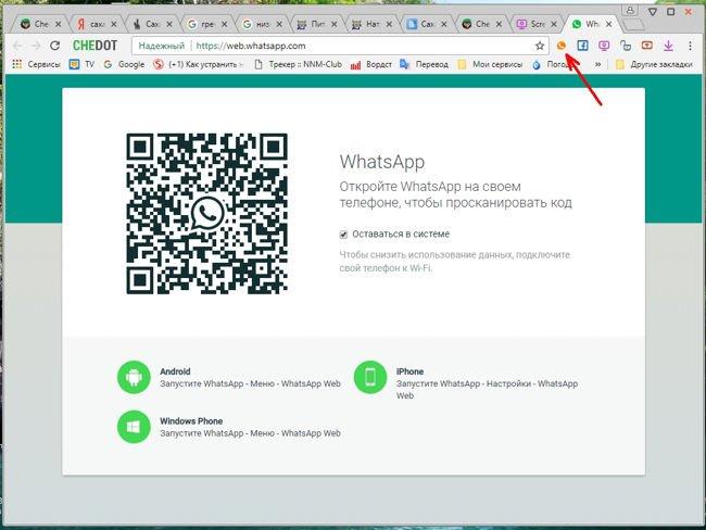 Последнее время в браузере Chedot появились полезные приложения, такие как: WhatsApp