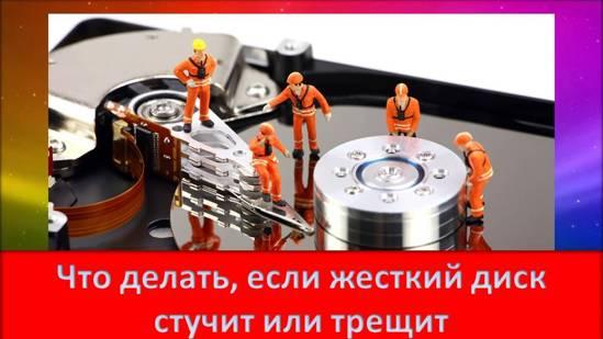 Что делать, если жесткий диск стучит или трещит