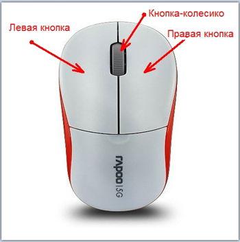 Работа с компьютерной мышью