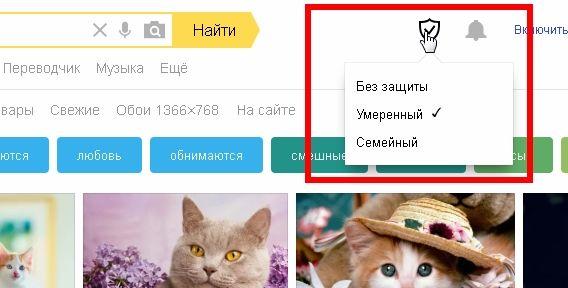 Теперь можно включить «Режим поиска», кликнув по по значку в виде щита (справа от желтой кнопки «Найти» в окне поиска).