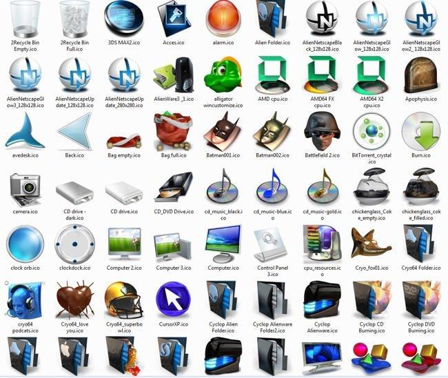 Где скачать иконки для папок и как их установить