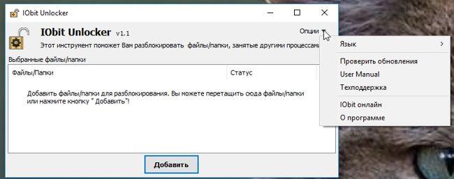 Бесплатная программа для удаления не удаляемых файлов - IObit Unlocker