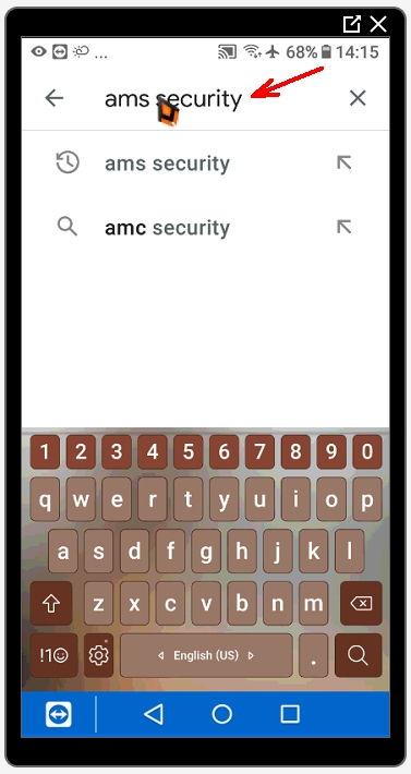 В строке поиска пишем запрос «amс security» (без кавычек).